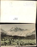 433006,New Zealand Neuseeland Mount Cook Aoraki Bergkulisse - Ansichtskarten