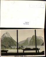 432992,New Zealand Neuseeland Milford Sound Fjord Bergkulisse - Ansichtskarten