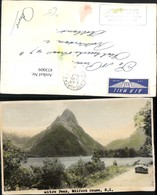433009,New Zealand Neuseeland Milford Sound Mitre Peak Fjord Bergkulisse - Ansichtskarten