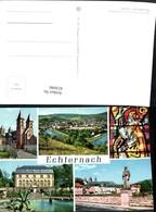 433090,Luxembourg Luxemburg Echternach Totale Kirche Statue Mehrbildkarte - Ansichtskarten