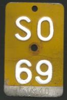 Velonummer Mofanummer Solothurn SO 69 - Plaques D'immatriculation