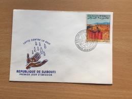 Djibouti Dschibuti 1990 FDC Lutte Contre La Soif Wasser Water Mi. 534 - Dschibuti (1977-...)