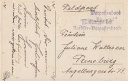 DR Feldpostkarte Mit Stempel Vorpostenboot Bismarck II. Gruppe Der Nordsee-Vorpostenboote - Deutschland