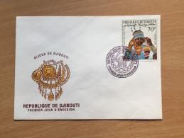 Djibouti Dschibuti 1990 FDC Bijoux Schmuck Jewelry Mi. 535 - Dschibuti (1977-...)