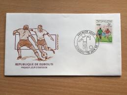 Djibouti Dschibuti 1990 FDC FIFA World Cup Soccer Football Italia Italy Italie WM Fußball Mi. 538 - Dschibuti (1977-...)