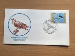 Djibouti Dschibuti 1991 FDC Bird Of Prey Rapace Oiseaux Vogel Adler Balbuzard Pêcheur Mi. 553 - Dschibuti (1977-...)