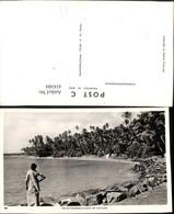 434304,Ceylon Sri Lanka Palm Fringed Coast Küste Palmen - Sri Lanka (Ceylon)