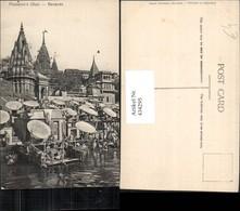434295,India Benares Varanasi Punjabies Ghat Türme Anlegestelle - Indien