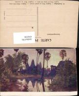 434338,Künstler AK Cambodge Kambodscha Angkor Wat Au Soleil Levant Tempel - Ansichtskarten