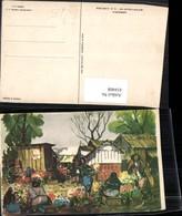 434408,Künstler AK C. X. Carlson Jamaica Blumenmarkt Markt - Ansichtskarten
