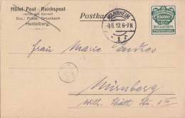 DR Karte Mit Reklamemarke Minr.R2 Mannheim 8.6.12 - Briefe U. Dokumente