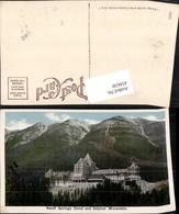 434630,Alberta Banff Springs Hotel And Sulphur Mountain Bergkulisse - Kanada