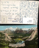 434621,Alberta Banff CPR Hotel And Bow Valley Bergkulisse - Ohne Zuordnung