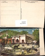 434582,Künstler AK C. X. Carlson Mexico City Zacatenco Eseln - Mexiko