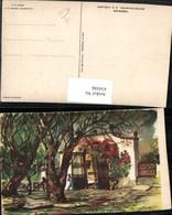 434586,Künstler AK C. X. Carlson Mexico City Tepepam Gittertor Bäume - Mexiko