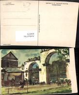 434571,Künstler AK C. X. Carlson Mexico Municipio Amecameca Gittertor - Mexiko