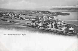 SAINT-BLAISE → Dorfansicht Mit Bahnhof, Ca.1910 - NE Neuenburg