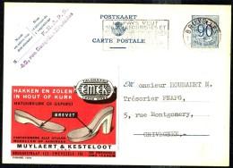 "CP Publibel. N° 1034  "" Haken En Zolen In Hout Of Kurk MUYLAERT & KESTELOOT "" - Circulé / Circulated - 1951. - Publibels"