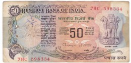 India #84i, 50 Rupee 1978 Banknote Currency Money - India