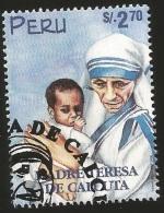 B)1998 PERU, RELIGION,  CATHOLIC, MOTHER TERESA (1910-97), SC 1192 A531, SOUVENIR SHEET, MNH - Peru