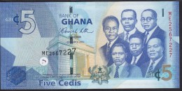 Ghana 5 Cedis 2015 P38 UNC - Ghana