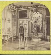 Ancienne PHOTO Stéréo Circa 1860 PALAIS De VERSAILLES: Salon Des Pendules.. Photo Martinet à Paris - Fotos Estereoscópicas