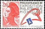 France N° 2524 ** Liberté De Gandon - Philexfrance 89 - Tour Eiffel - France