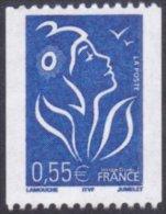 France N° 3807 **  Marianne De Lamouche La Roulette Du 0.55 Euros - Bleu - Neufs