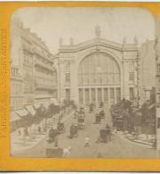 Ancienne PHOTO Stéréo Circa 1870.. PARIS: La Gare Du Nord... Editeur B. K. à Paris - Fotos Estereoscópicas