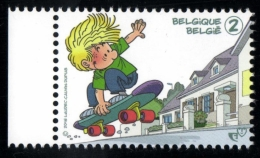 Belgium 2016 MNH, Cédric On Skateboard, Comics By Laudec Cauvin Dupuis, Philatélie De La Jeunesse / Jeugdfilatelie