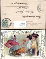 439076,Künstler Ak Wiener Typen Schöne Rosen Blumenverkäuferin Volkstypen Europa Pub - Europe