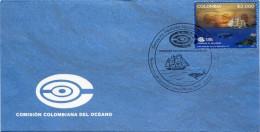 Lote 2016-4F, Colombia, 2016, SPD-FDC, Comision Colombiana Del Oceano, Whale Flag Ocean Sailboat, Buque Gloria - Colombia