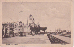 AK Brest-Litowsk - Bahnhof - Feldpost Feldartillerie-Regiment 249 - 1917 (23886) - Weißrussland