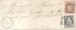 MARLY LE ROI (SAINT GERMAIN EN LAYE) A UGINE OU UGINES SAVOIE DISTRICT ALBERVILLE AN 1850 AFFRANCHISSMENT 60 CENTIMES RA - 1849-1850 Ceres