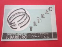 Carte De Visite Publicitaire Publicité Rectification Moteur Culasse Trirac  Barbero Mecanique R. Vitalis  Marseille - Tarjetas De Visita