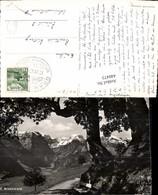 440473,Braunwald Wegpartie Bergkulisse Kt Glarus - GL Glarus