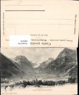 440476,Linthal Vom Bad Stachelberg Totale Bergkulisse Kt Glarus - GL Glarus