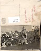 440479,Braunwald Hausstockkette Bergkulisse Winterbild Kt Glarus - GL Glarus