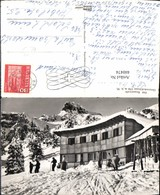440474,Braunwald Ortstockskihaus Bergkulisse Winterbild Kt Glarus - GL Glarus
