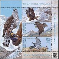 2015 Kyrgyzstan Birds Of Prey Express Post Block Of 3 MNH - Kyrgyzstan
