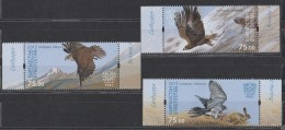 2015 Kyrgyzstan Birds Of Prey Express Post Set Of 3 MNH - Kyrgyzstan