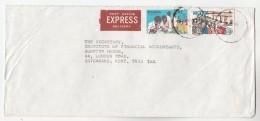 EXPRESS NIGERIA Stamps COVER To GB - Nigeria (1961-...)