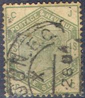 GREAT BRITAIN   107,   Used,  S.G.  196,  Green/dull Green, Sound, SCV$ 300.... (gb107-8.....[16-cvn. - 1840-1901 (Victoria)