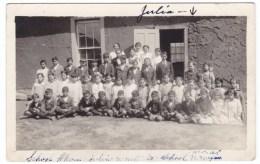 Mora New Mexico, Group Of School Children, C1910s Vintage Real Photo Postcard - Stati Uniti