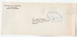 BAHAMAS MINISTRY OF TOURISM COVER  Ministry Of Tourism Paid Stamps - Bahamas (1973-...)