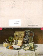 445573,M. O. Bürger Stillleben Wein Brot Käse Krug Essen Reklame Stukenbrok Einbeck F - Küchenrezepte
