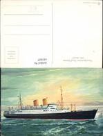 445807,Künstler Ak Norddeutscher Lloyd Bremen MS Berlin Hochseeschiff Schiff - Commerce