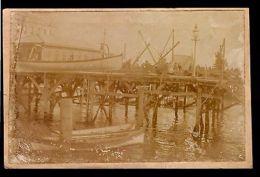 Ca 1900 Montevideo Port Uruguay Original Postcard Photo RPPC ALBUMEN RARE - Postcards