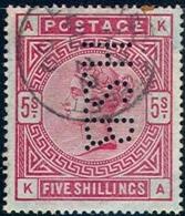 GREAT BRITAIN   108a,   Bluish Paper, Used, VF,  SCV$4000, V. RARE(gb108a-2 ,SG176, Carmine Rose/rose..{16-DXVN - 1840-1901 (Victoria)