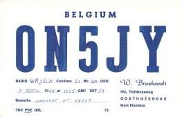 Amateur Radio QSL Card - ON5JY - Oostrozebeke, West Flanders BELGIUM - 1968 - Radio Amateur